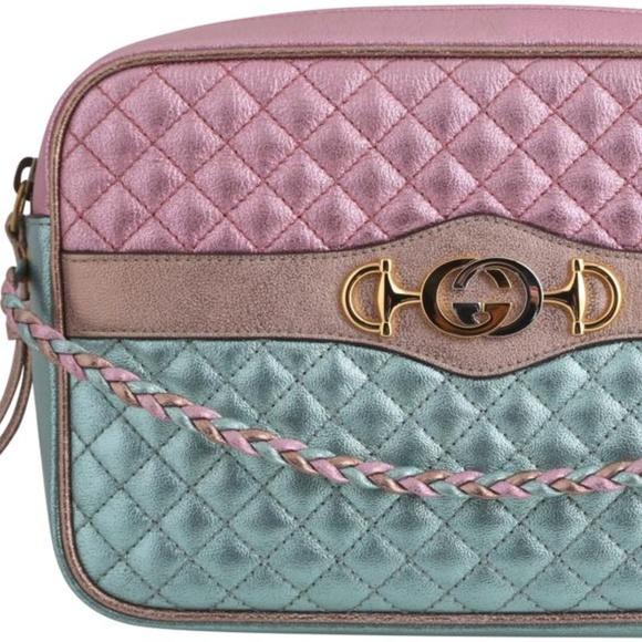 a9e2d6186f Gucci Laminated Leather Shoulder Bag
